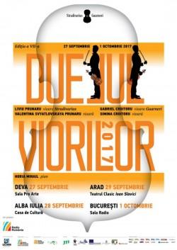"""Concertul itinerant """"Duelul viorilor"""" va ajunge și la Arad"""