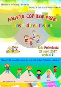 Deschiderea festivă a Palatului Copiilor Arad