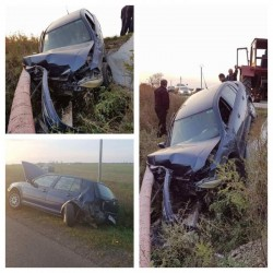 ACCIDENT rutier la ieșirea din Arad spre Zădăreni ! Au fost implicate trei autoturisme !