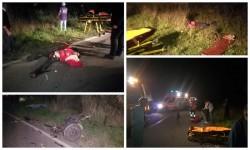Accident cu patru victime pe şoseaua dintre Ineu şi Şeleuş! O căruţă spulberată de un autoturism
