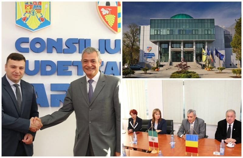 Ambasadorul Mexicului, în vizită la Consiliul Judeţean Arad