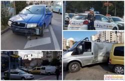Accident de circulaţie în sensul giratoriu din zona Intim!