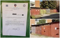 Locatarii unui bloc din centrul oraşului, somaţi să îşi demoleze garajele!