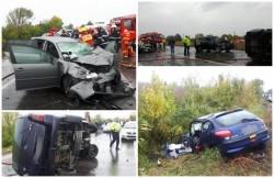 Accident mortal pe DN2! Autorităţile au activat PLAN ROŞU de intervenţie după ce o persoană a murit şi alte 14 au fost rănite!