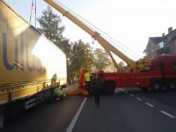 DN7, blocat în această dimineaţă în zona localităţii Bârzava