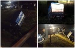 Accident stupid lângă Hanul Moara cu Noroc! O autoutilitară a parcat în pârâul din apropiere