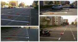 Primăria Arad a demarat acţiunea de refacere a marcajelor locurilor de parcare în cartierele din municipiu