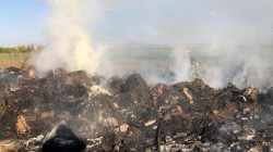 Un utilaj agricol a luat foc pe câmp, la ieșire din Chișineu Criș