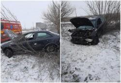 Accident între Arad și Zădăreni, un șofer a părăsit carosabilul și s-a op ...
