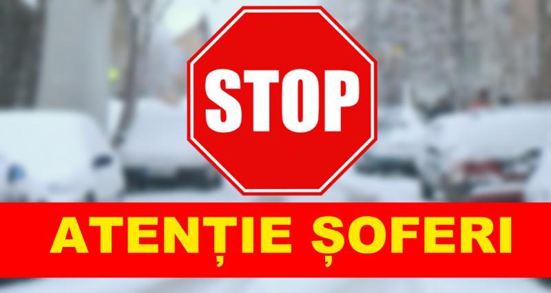 ATENȚIE ȘOFERI!  O autostradă și 50 de sectoare de drumuri naţionale au fost închise !
