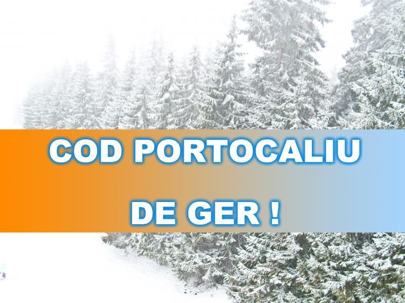 ANM a emis COD PORTOCALIU DE GER ! Temperaturile vor ajunge până la -29 de grade!