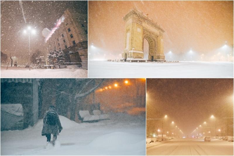 WOW! România sub zăpadă! Un fotograf a reușit să surprindă imagini inedite cu ninsorea și viscolul din ultimele zile! (FOTO)