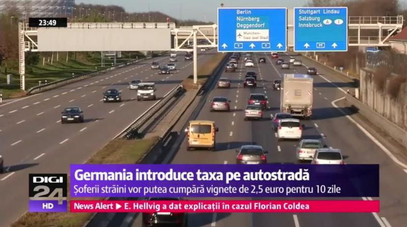 Șoferii care vor circula pe autostradă în Germania, vor fi taxați !