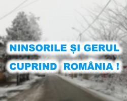 Ninsorile și gerul cuprind România!!! ANM a emis prognoza pentru perioada 2-15 ianuarie !