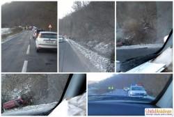 Accident la intrare în localitatea Joia Mare