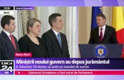 """Noul Guvern a depus jurământul. Mesajul lui Iohannis: """"Domnule Dragnea....Vă rog eu frumos, învăţaţi-i şi pe ei""""!"""