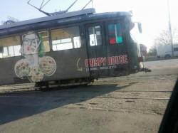 Un tramvai a sărit de pe şine sâmbătă în zona strandului Bidi