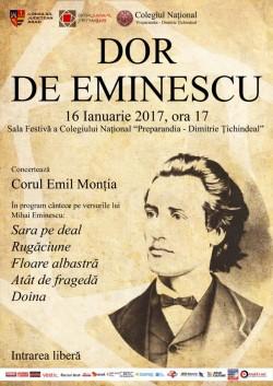 Concert coral dedicat poetului Mihai Eminescu!