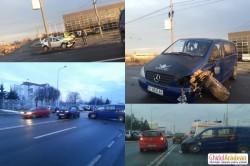 Accident  la ieşire spre Pecica în zona RAR (Foto)