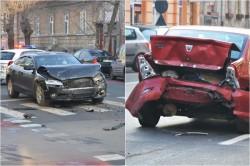 Un alt ACCIDENT pe strada Mărășești! AUDI vs LOGAN! (FOTO)