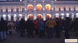 Maxim 200 de arădeni au protestat duminică seara la Arad împotriva ordonaţei graţierii (Galerie FOTO)
