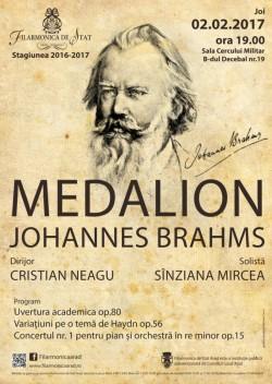 Medalion Johannes Brahms la Filarmonica din Arad, Invitata serii – pianista Sânziana Mircea