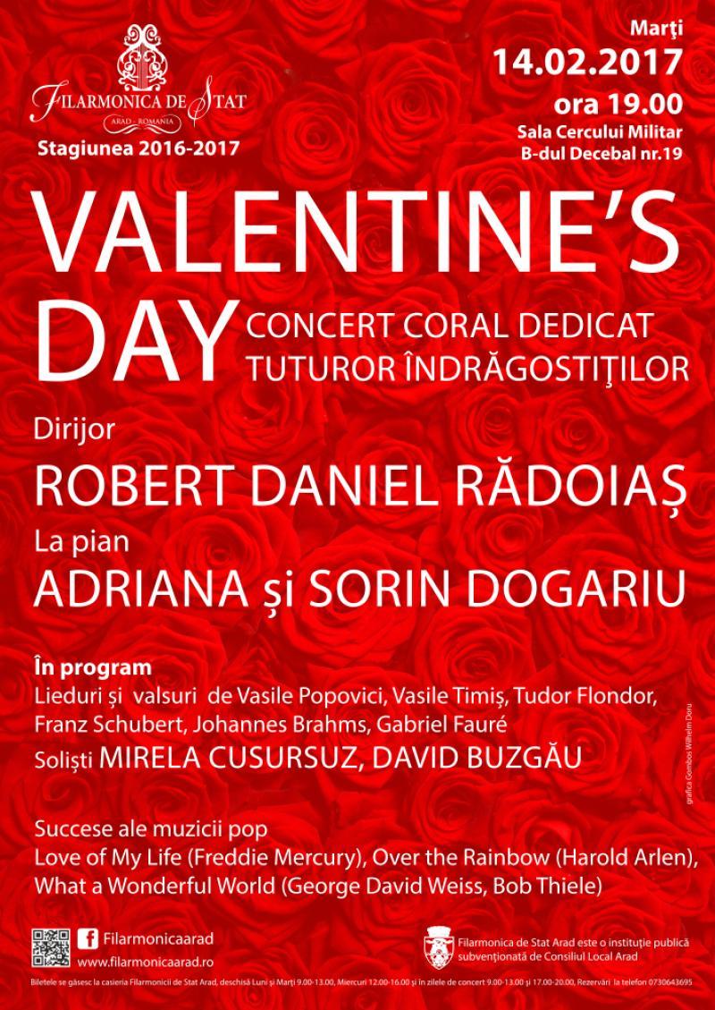 Concert dedicat sărbătorii Sfântului Valentin la Filarmonica din Arad
