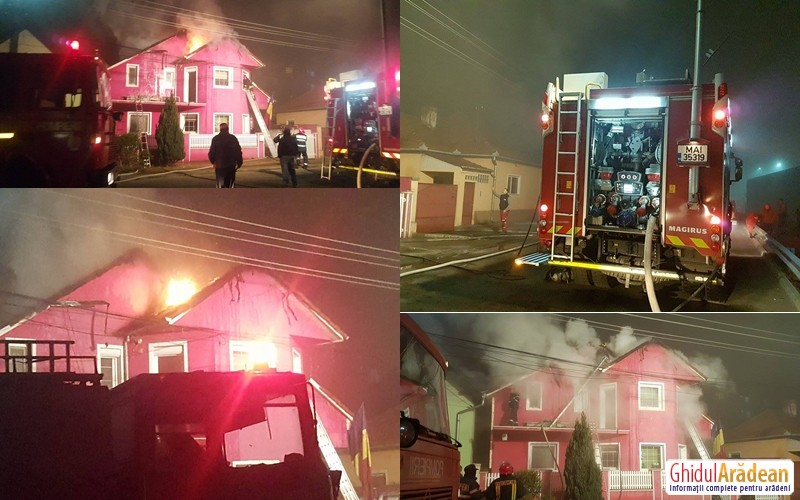 VIDEO/ FOTO - INCENDIU puternic izbucnit la o casă din Bujac !