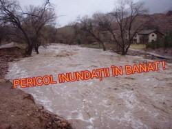 PERICOL accentuat pe apele din Banat din cauza dezghețului!