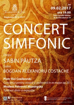 Muzica marilor romantici ruși, sub bagheta maestrului Sabin Păutza