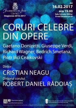 Muzica secolului romantic - Coruri celebre din opere la Filarmonica de Stat Arad
