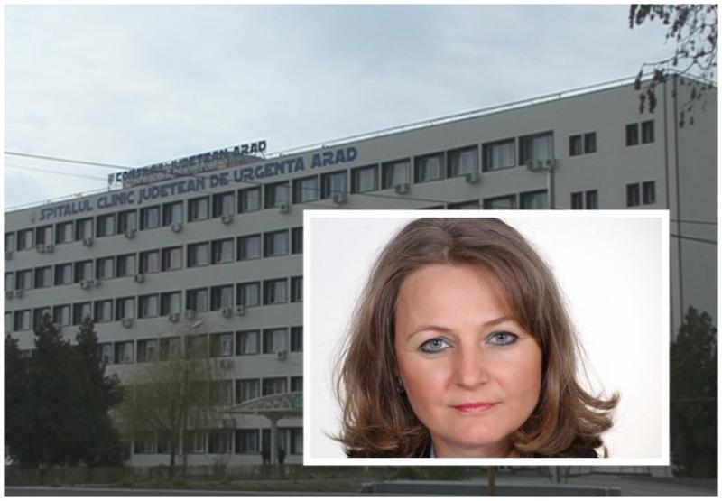 Corina Crişan demisionează din funcţia de manager la Spitalul Judeţean Arad