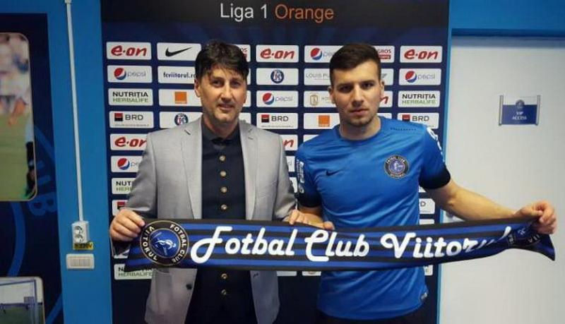 Arădeanul Ţucudean a semnat  cu gruparea lui Hagi,  FC Viitorul