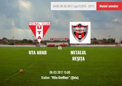 UTA debutează luni pe stadionul  din Şiria