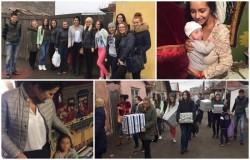 Studentii UAV de la asistenţă socială alături de lectorul Alina Breaz continuă campania de ajutorare a celor vulnerabili