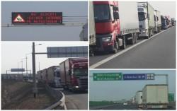 Cozi infernale pe autostrada Nădlac! TIR-uri întinse pe 15 km