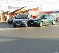 Accident în Grădişte ! O Dacia şi un Volkswagen implicate