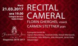 Maestrul Florin Gherghel și pianista Carmen Stettner vă propun un romantic recital cameral