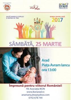 Mâine are loc Marșul pentru viață, în Piața Avram Iancu ! VEZI care este traseul Marșului