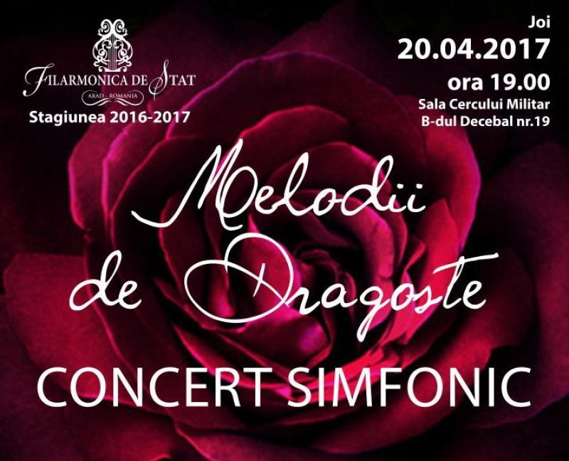 Concert Sinfonic cu Melodii de Dragoste la Filarmonica din Arad