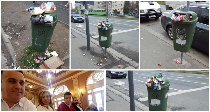 """Jocurile politice şi  """"enteresul local"""" lasă gunoaiele pe strazile din Arad"""