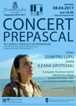 Concert PREPASCAL al Filarmonicii Arad pe Platoul Primăriei