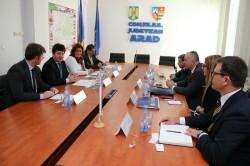 Delegaţia Camerei de Comerţ din Vojvodina în vizită la Consiliul Judeţean Arad