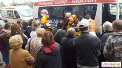Femeie accidentată la spate, într-un microbuz ce transporta pasageri la Real !