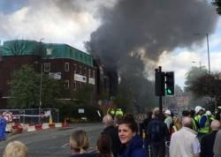 Un spital a luat foc miercuri dimineața !