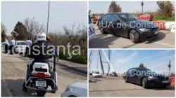 Şofer oprit cu focuri de armă de poliţişti după o urmărire ca în filme (FOTO)