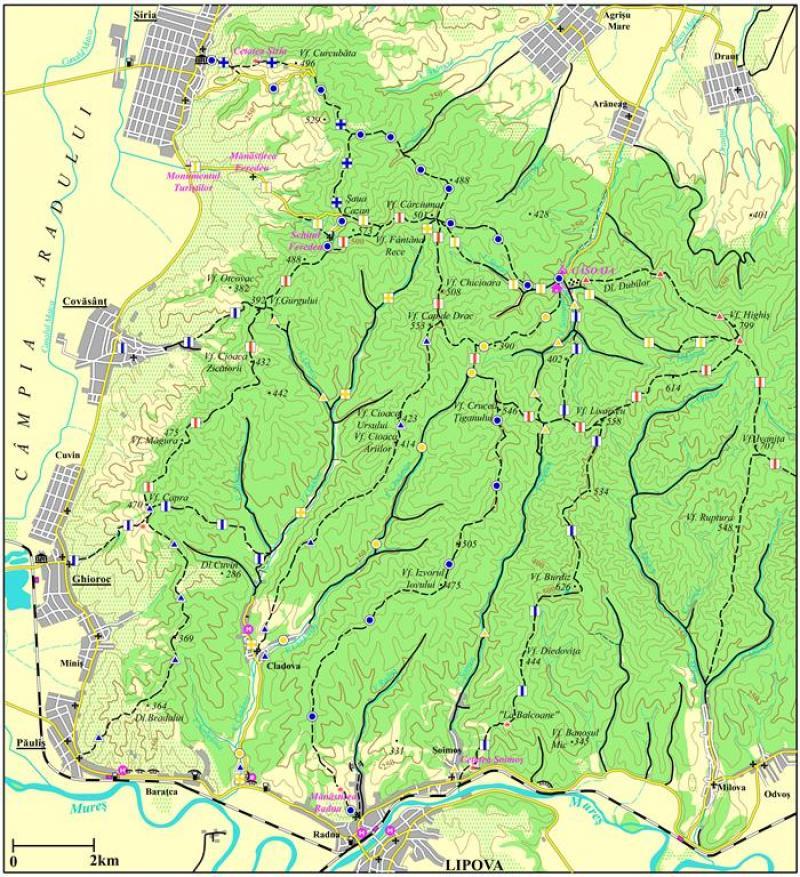 15 trasee turistice din zona de vest a Munţilor Zărand au fost omologate
