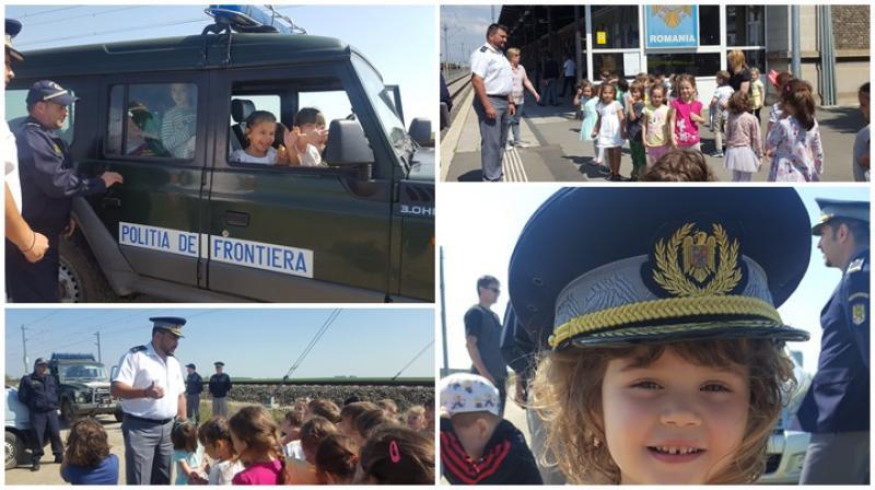 Plimbați cu o mașină a Poliției de Frontieră ! Copiii au fost impresionați ! Vezi GALERIE FOTO !