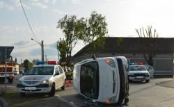 Accident spectaculos în Pecica, luni seara !