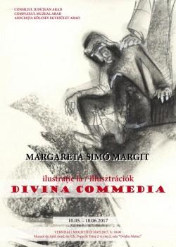 """Expoziția de grafică ILUSTRAȚIE LA """"DIVINA COMMEDIA""""MARGARETA SIMÓ MARGIT (Arad)"""